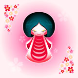 Sakura doll Stock Images