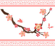Sakura elements Stock Photo