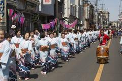 Sakura festiwal Kawagoe, Japonia Obrazy Royalty Free