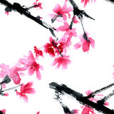 Sakura Flower royaltyfri illustrationer