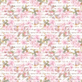 Sakura flowers - cherry, apple, almond, with handwritten text. Water color floral seamless pattern Royalty Free Stock Photos