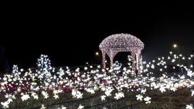 Sakura Garden. With its decorated lights in Tangerang Stock Image