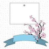 Sakura gradient stock illustration
