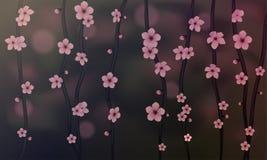 Sakura hermoso - vector realista Imagenes de archivo