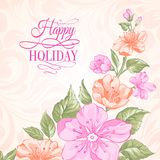 Sakura holiday invitation card. Royalty Free Stock Images