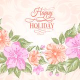 Sakura holiday invitation card. Stock Images