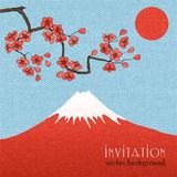 Sakura invitation card background or poster Royalty Free Stock Photos