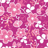 Sakura Kimono Blossom Seamless Pattern rose Images libres de droits