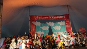 2014 Sakura Matsuri Festival Cosplay Fashion toont 33 Stock Fotografie