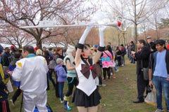 2014 Sakura Matsuri Festival Cosplay Fashion toont 48 Stock Foto's