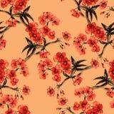 Sakura pattern. Royalty Free Stock Photo