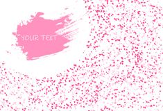 Sakura petals scatter pink concept falling banner template concept on white frame abstract background vector illustration vector illustration