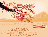Sakura   postcard . Royalty Free Stock Image