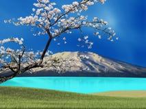 Sakura postcard . menu. Royalty Free Stock Photography