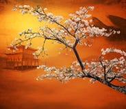Sakura postcard . menu. Royalty Free Stock Images