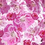 Sakura seamless pattern Stock Image