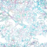 Sakura seamless pattern. Vector, EPS 10 Stock Photos