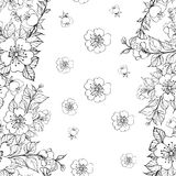 Sakura seamless pattern. Stock Photos