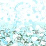 Sakura Snowfall Abstract Background. In Blue and White vector illustration