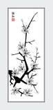 Sakura sumi-e Royalty-vrije Stock Afbeeldingen