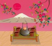 Sakura . Tea ceremony. Royalty Free Stock Photography