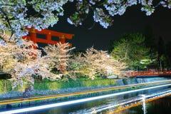 Okazaki canal with tori Stock Photo