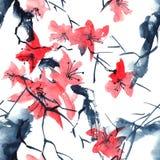 Sakura trädmodell Arkivfoto