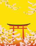 Sakura y toros Fotografía de archivo