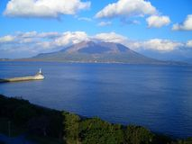 Sakurajima stock photography