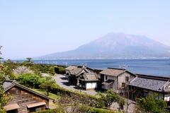 Sakurajima Ansicht von Kagoshima Lizenzfreies Stockfoto