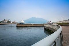 Sakurajima, Kagoshima nabrzeże Zdjęcia Royalty Free