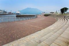 Sakurajima, Kagoshima nabrzeże Fotografia Stock