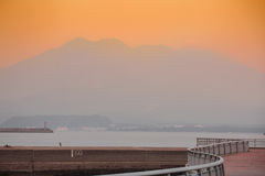 Sakurajima, Kagoshima nabrzeże Obrazy Royalty Free