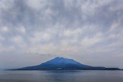Sakurajima - l'à pleine vue Photographie stock libre de droits