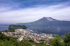 Sakurajima volcano Stock Photo