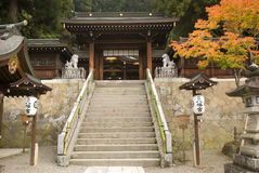 Sakurayama Hachimangu寺庙,高山市,日本 免版税库存照片