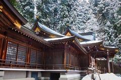 Sakurayama Hachimangu寺庙, Hida, Takayama 免版税库存图片