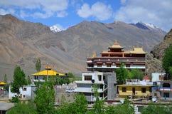 Sakya kloster på Kaza Arkivfoto