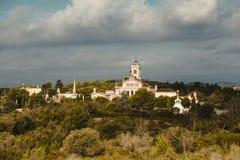 Sakya Tashi Ling, monastery buddhism. Garraf, Spain. Sakya Tashi Ling, monastery buddhism.  In the province of Barcelona, Catalonia, northern Spain Stock Photo