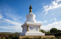Sakya Tashi Ling monastery Royalty Free Stock Photography