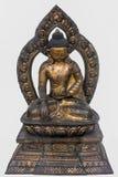 Sakyamuni菩萨,铜被镀金的18世纪,尼泊尔 免版税库存照片