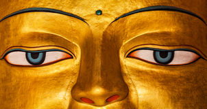 Sakyamuni Buddha statue face close up Stock Photos