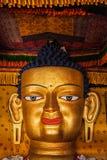 Sakyamuni Buddha statue face close up Royalty Free Stock Photography