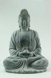 Sakyamuni de piedra negro Buda Imagen de archivo libre de regalías