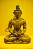 Sakyamuni. A golden Sakyamuni statue form china royalty free stock photo