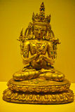 Sakyamuni. A golden Sakyamuni statue form china stock photo