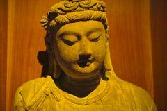 Sakyamuni. A golden Sakyamuni statue form china stock photography