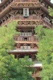 Sakyamuni pagod av den Fogong templet royaltyfria bilder