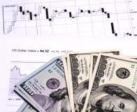 Salário da troca na bolsa de valores Foto de Stock Royalty Free