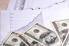 Salário da troca na bolsa de valores Fotos de Stock Royalty Free